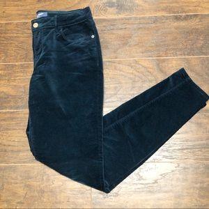 Old Navy Rockstar Mid-Rise Blue Velvet Jean Pants
